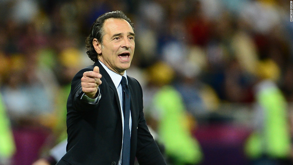 """We came up against a terrific side. They're world champions. Obviously, when you go down to 10 men, the game's over,"" said Italy coach Cesare Prandelli."