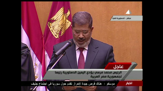 Egypt's Morsy takes over