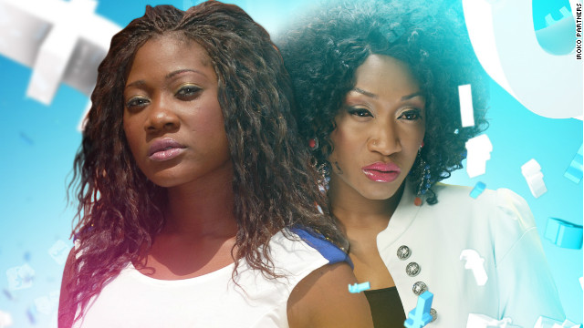 "A poster from popular Nollywood movie, ""Fazebook Babes"""