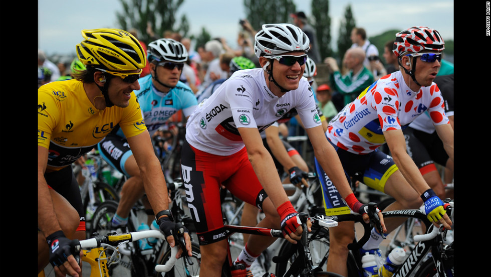 Fabian Cancellara of Switzerland holds the yellow jersey and overall race lead going into Stage 2 on Monday.