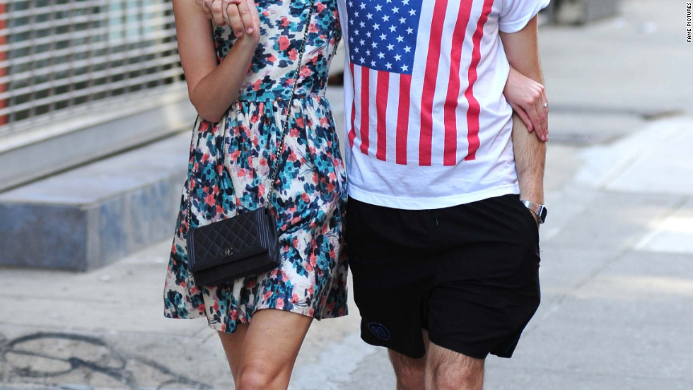 Keira Knightley and her fiance James Righton walk around New York City.