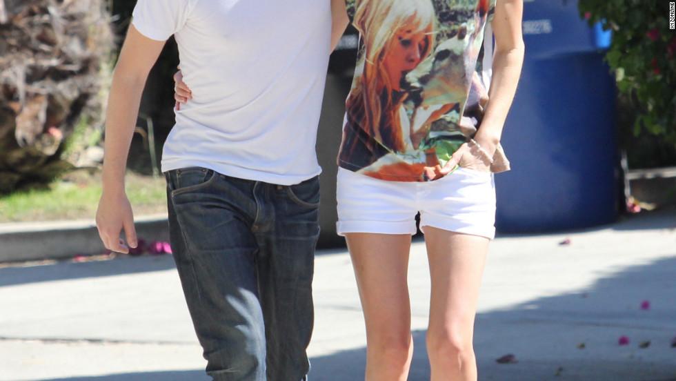 Kate Bosworth and Michael Polish visit friends in Los Feliz.