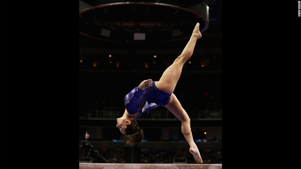 Jordyn Wieber competes on the beam during Day Four of the 2012 U.S. Olympic Gymnastics Team Trials.