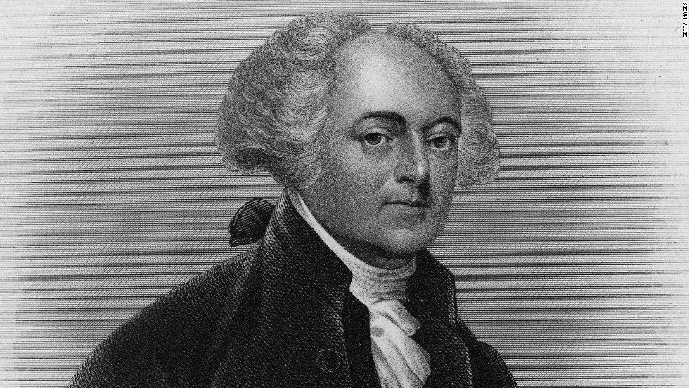 Engraving depicts a portrait of American political philosopher, revolutionary, diplomat, vice president, and president John Adams (1735 - 1826), early 19th Century. Engraving is by eminent American engraver John Chester Buttre (1821 - 1893) after a painting by famed American portraitist Gilbert Charles Stuart (1755 - 1828).