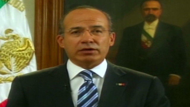 Calderon addresses Mexican citizens