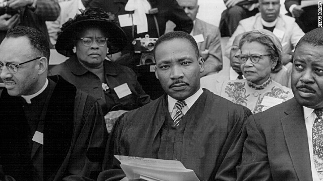 The Rev. Martin Luther King Jr. attends a prayer pilgrimage in 1957, the year he would co-found the SCLC.