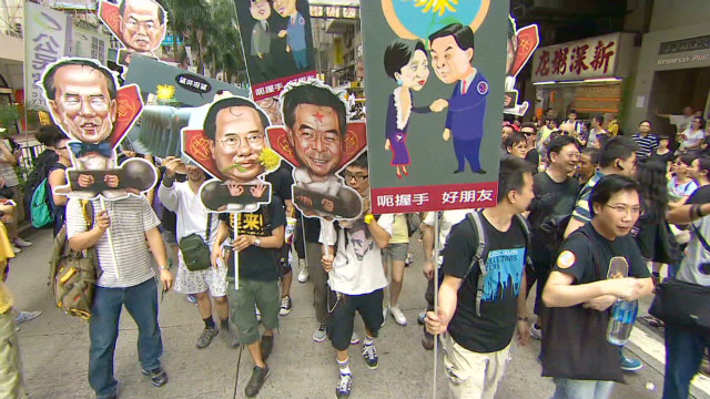 Hong Kong anniversary prompts protests