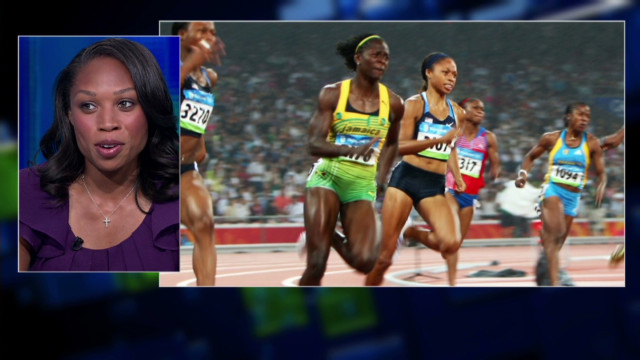 Allyson Felix goes for the gold