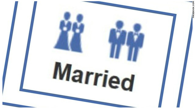 Facebook added these same-sex marriage icons over the weekend.