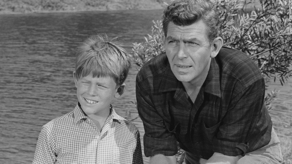 Future director Ron Howard played son Opie to Griffith's Andy Taylor on the TV show.