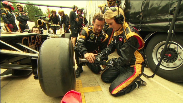 In the pits with Lotus F1 Team