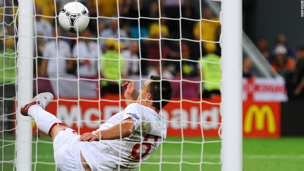 At the Euro 2012 tournament, England were involved in controversy for a third time. Co-hosts Ukraine needed to beat England to advance from the group stage, but fell behind to a Wayne Rooney header.  Artim Milevskiy thought his shot had crossed the line before John Terry was able to hook it clear, but once again no goal was given and Ukraine crashed out.