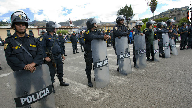 A state of emergency was declared in parts of Cajamarca in December after protests against the Conga project.