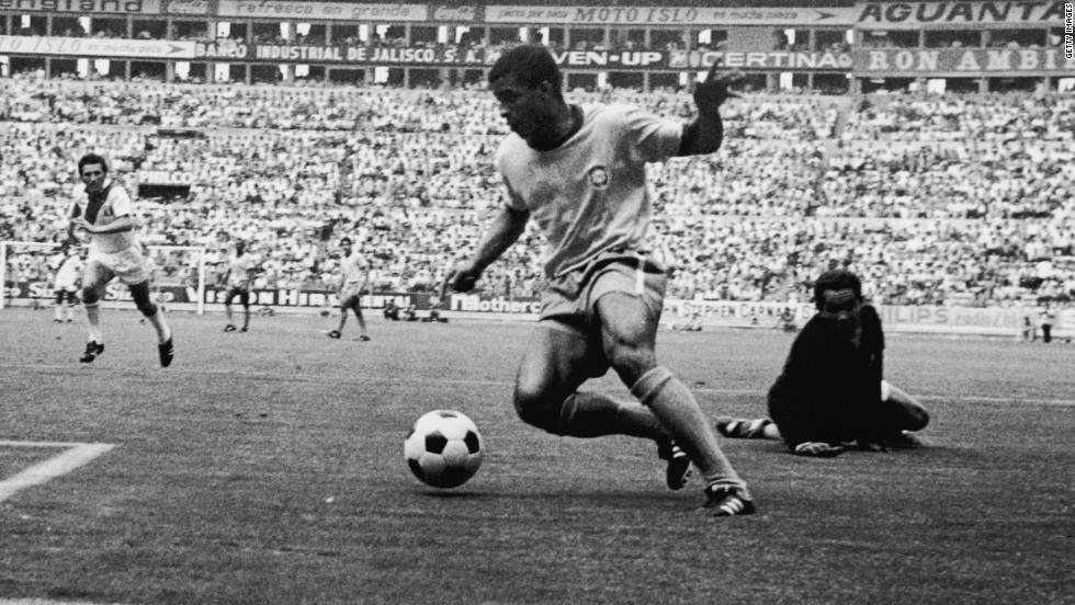 Brazil's glorious 1970 campaign also owed much to Jairzinho, the powerful forward who scored in all six of his country's matches -- only the third man to achieve the feat at a World Cup. During the 1970 tournament, Brazil averaged a stunning 3.2 goals per game.