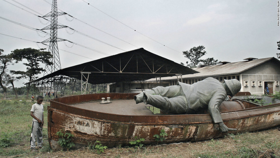 "A statue of British explorer Henry Morton Stanley overlooked the capital of the Democratic Republic of Congo in colonial times but was removed in the 1970s and dumped in a lot in Kinshasa. South African photographer Guy Tillim documented those in power in the African nation as part of his series ""Congo Democratic."""