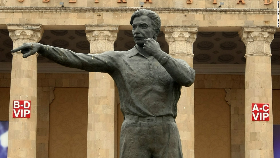 Hurst's goal was awarded after referee Gottfried Dienst consulted Azerbaijan linesman Tofik Bakhramov who judged the ball had bounced beyond the line. Azerbaijan's national stadium is named after folk hero Bakhramov, who even had a statue modelled in his honour.