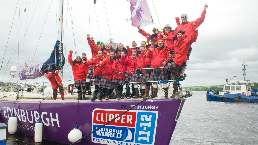"She is part of a multinational crew that is taking part in the bi-annual ""Clipper Round the World Yacht Race"" -- the only sailing race in the world where crews are made up of ordinary people, many with little or no sailing experience."