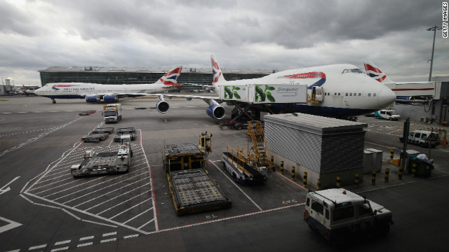 A British Airways Boeing 747 aircraft at Heathrow, similar to the craft involved in the incident.