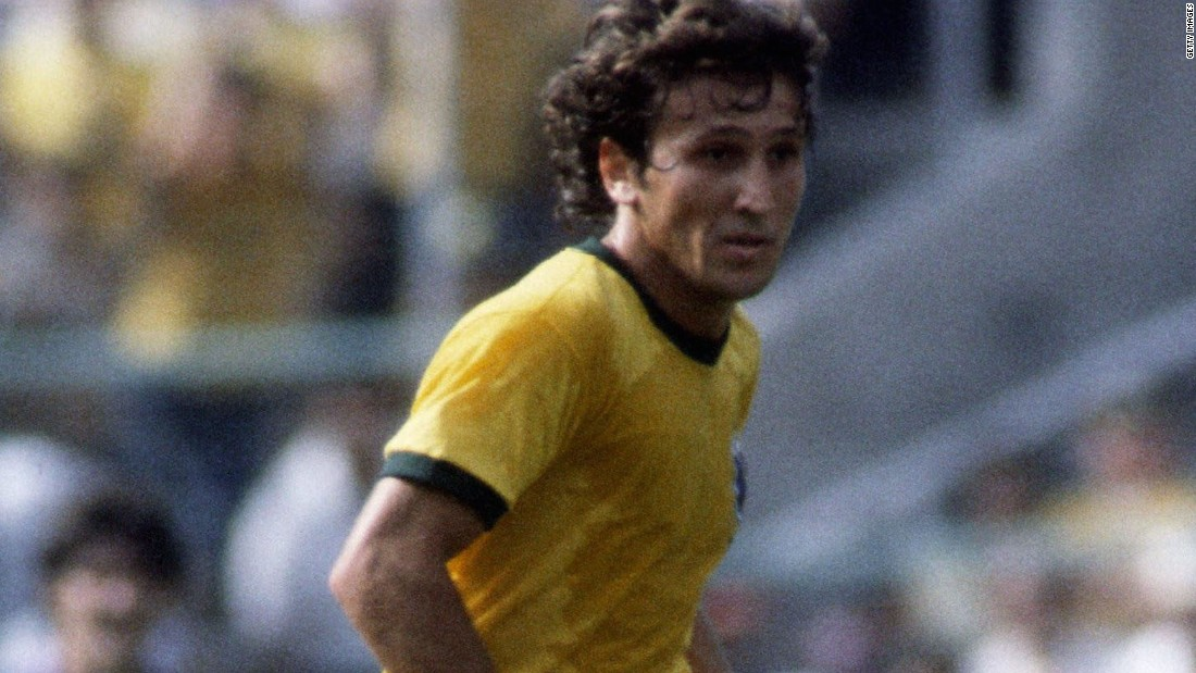 <strong>Brazil's 1982 World Cup team:</strong> Midfielder Zico starred alongside fellow playmaker Socrates in probably the most famous World Cup side not to win the tournament.
