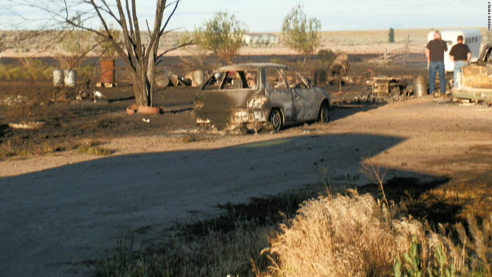 The family cars were scorched in the fire and nearly all of their belongings were reduced to ash.