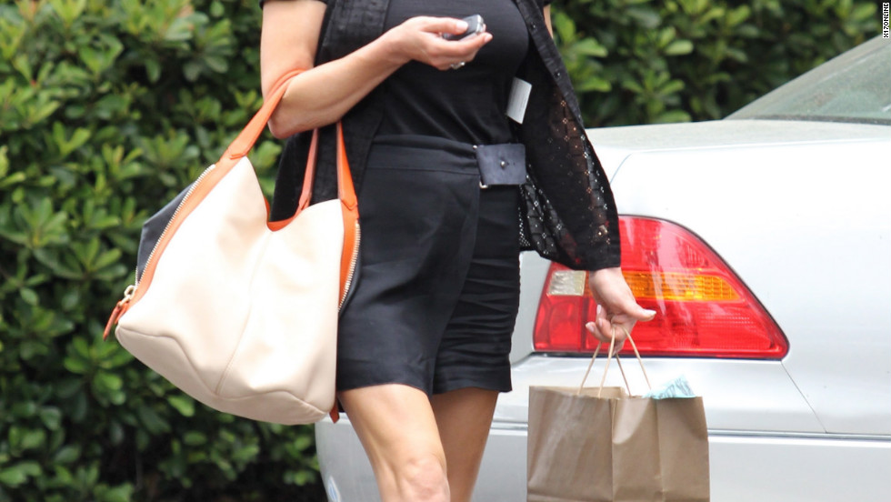 Catherine Zeta-Jones leaves a building in Santa Monica.