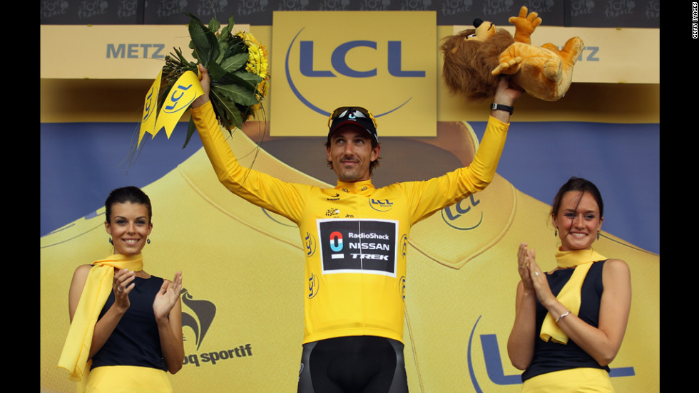 Fabian Cancellara of Switzerland, riding for the RadioShack-Nissan team, retained his race lead (signified by the yellow jersey) after Stage 6 on Friday, July 6, in Metz.