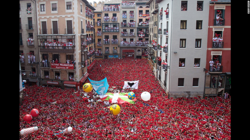 """The eight-day festival became popular worldwide after author Ernest Hemingway wrote about it in his 1920s book """"The Sun Also Rises."""""""