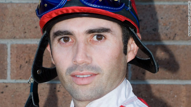Jockey Jorge Herrera died Thursday after being thrown from his horse during a race.