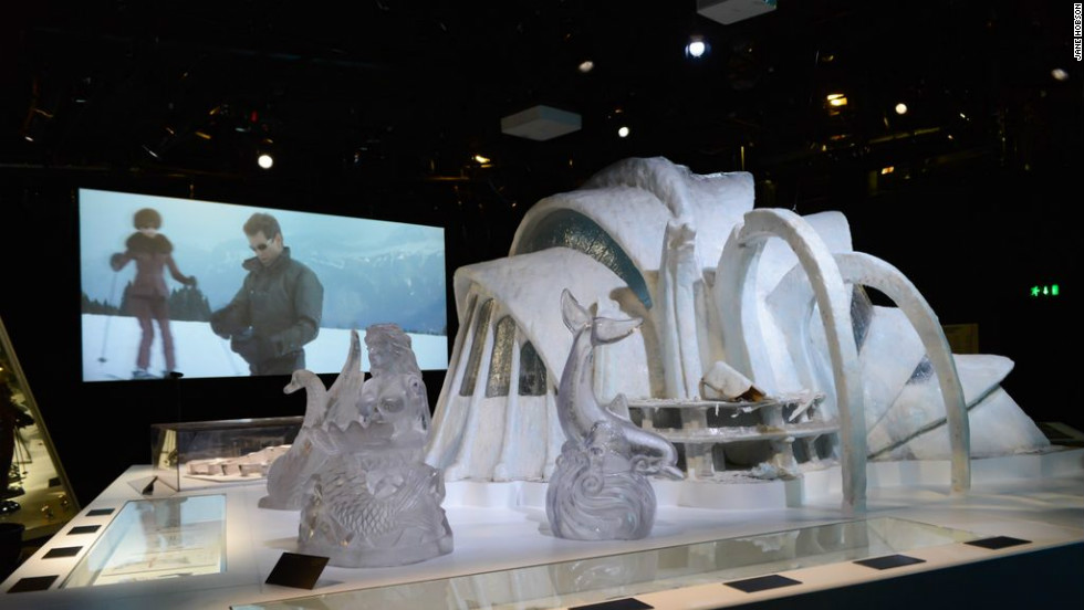 """Designing 007: Fifty Years of Bond Style'' features 400 Bond archive items together for the first time, and features a model of the Ice Palace from ""Die Another Day."""