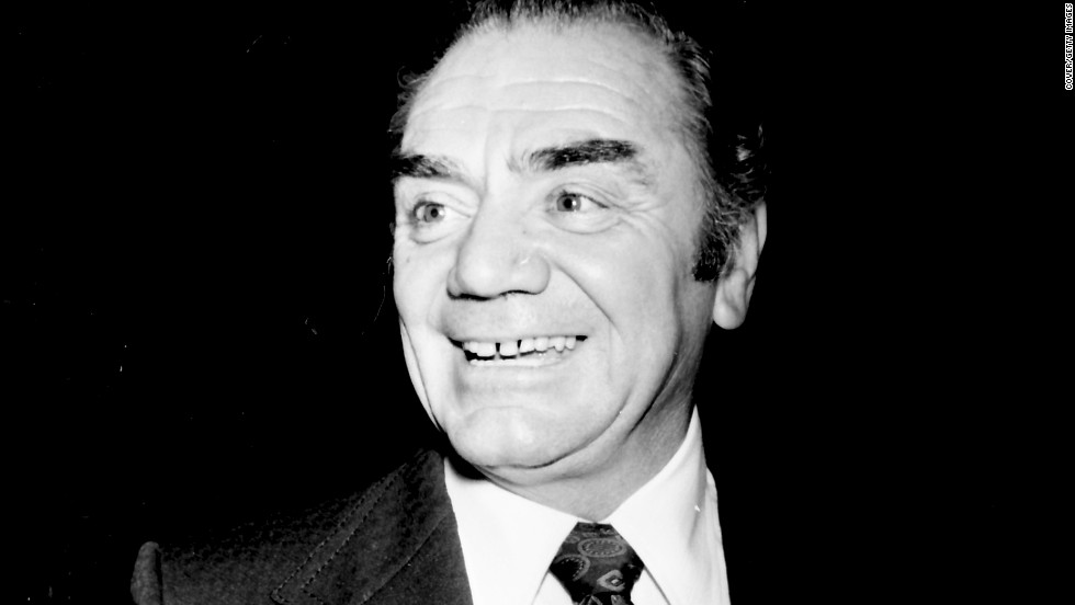 "Ernest Borgnine died on Sunday, July 8, at age 95. He's pictured here in 1973. In his greatest acting achievement, he won an Academy Award for his role in 1955's ""Marty."""