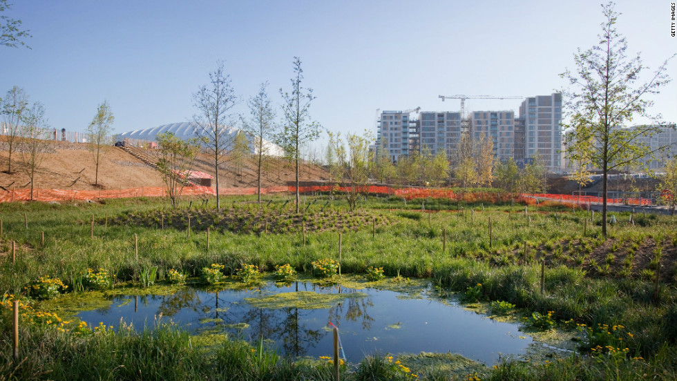 More than 4,000 trees, 74,000 plants and 300,000 wetland plants have been used on the 500-acre site.