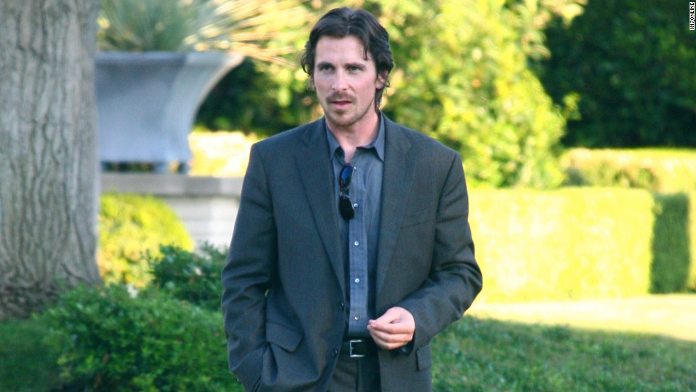 "Christian Bale films a scene for ""Knight of Cups."""
