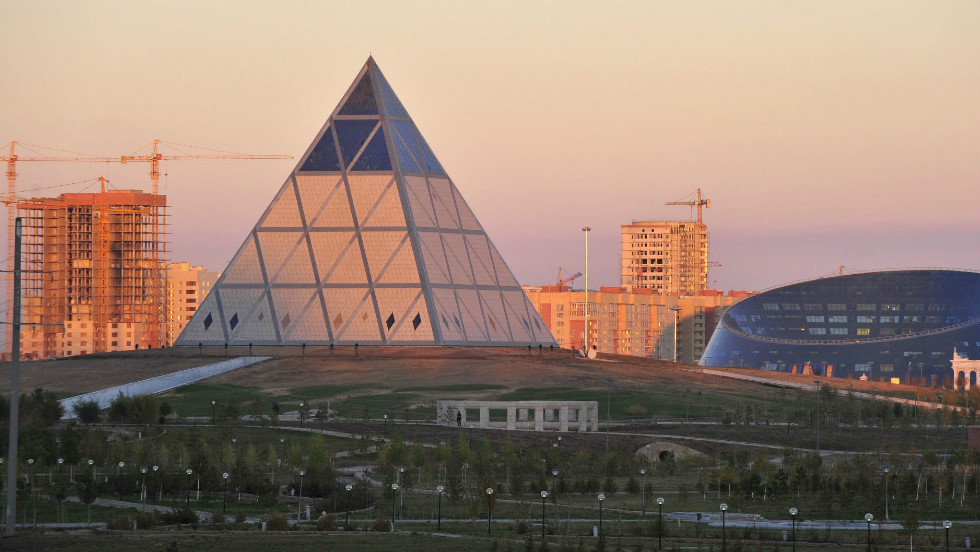 The 60-meter-tall Palace of Peace and Reconciliation was designed by archietcture firm Norman Foster and Partners.