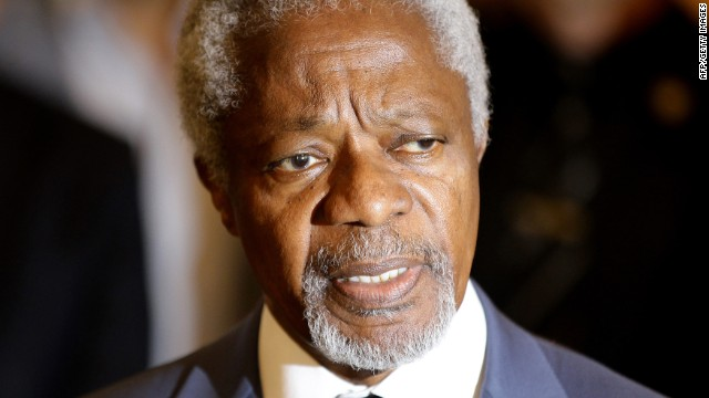 Ghanaian Kofi Annan is the former Secretary-General of the United Nations.