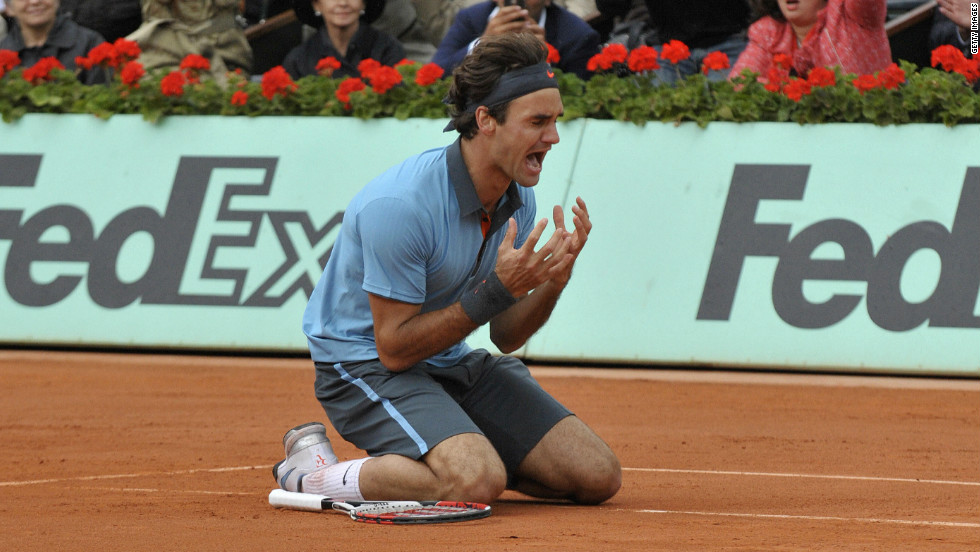 By 2009, despite all of his success, Federer was still to claim the French Open title. But after Robin Soderling eliminated Nadal in the fourth round, Federer beat the Swede in the final to complete a career grand slam.