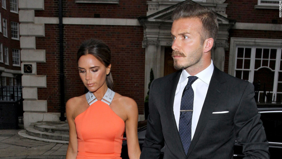 Victoria and David Beckham head out in London.