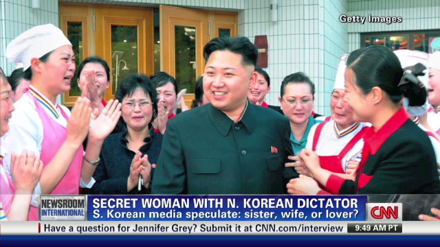 Secret woman with N. Korean dictator
