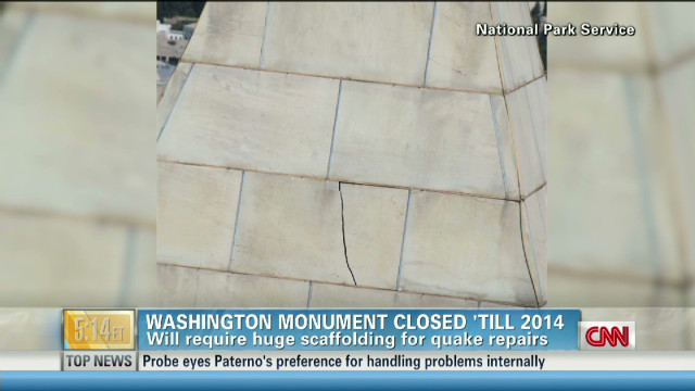 Washington Monument closed until 2014