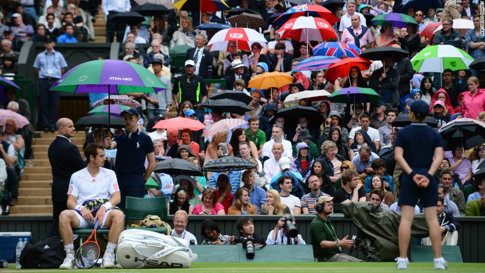 As is usually the case, rain forced Wimbledon organizers to tinker with the tournament schedule as play was interrupted numerous times on all but Centre Court, which has a retractable roof.