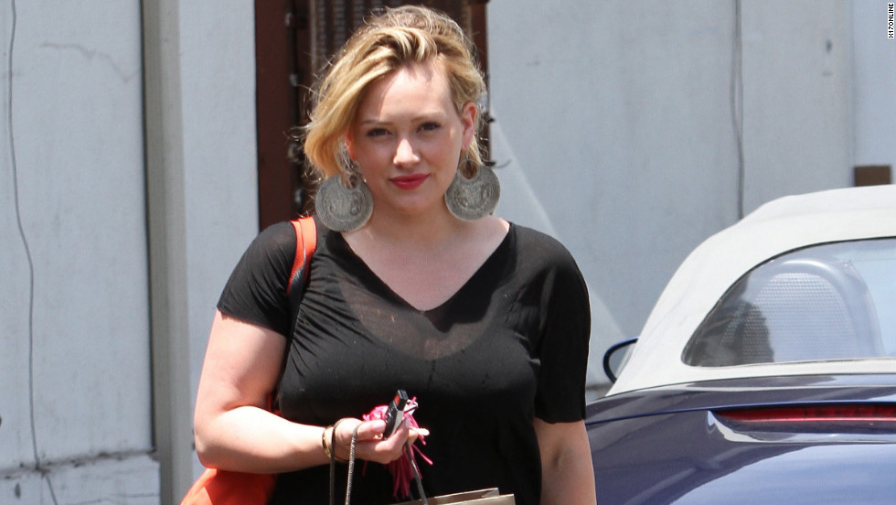 Hilary Duff does some shopping in Beverly Hills.