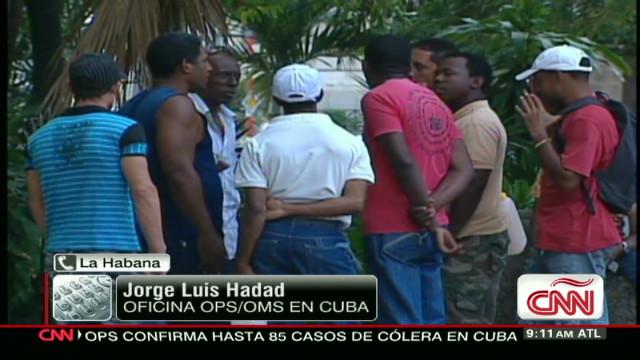Casos de cólera en Cuba