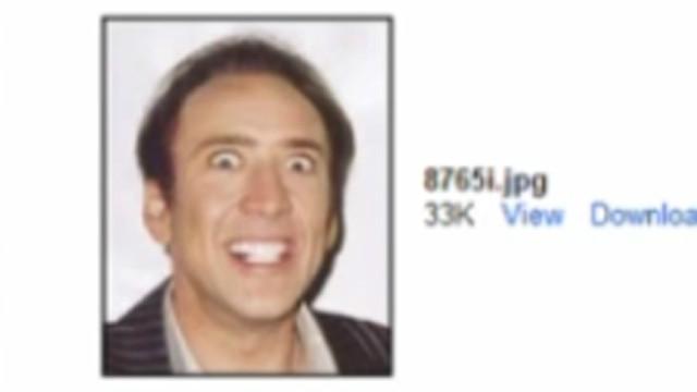 Nicolas Cage pic sent instead of resume