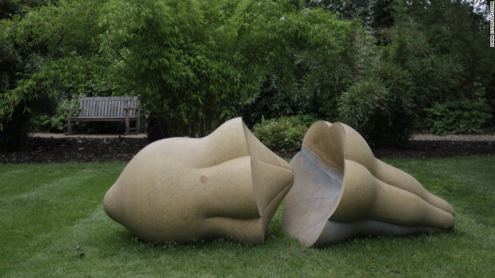 "Peter Randal Page's ""Parting Company"" sculpture represents a seed found in Belize. ""It makes people rediscover nature,"" David Worthington says. ""Botany makes nature very complicated, distant, and difficult to remember."""