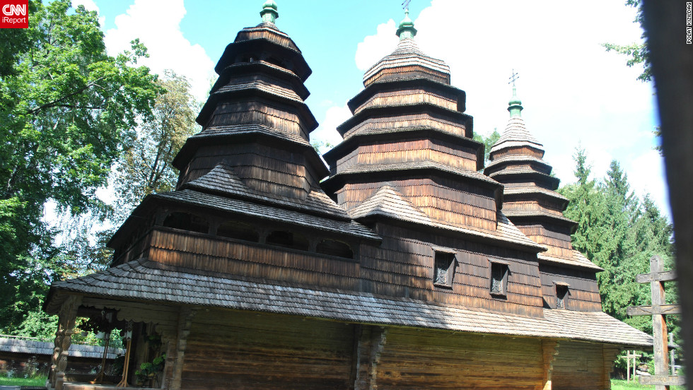 "Western Ukraine is home to a number of charming wooden churches, like this one captured by Polat Kizildag on a trip to Lviv in mid 2011. The city's diversity of architecture, green spaces and historic sites ensures ""it deserves its motto: Heart of Europe, soul of Ukraine,"" he adds."