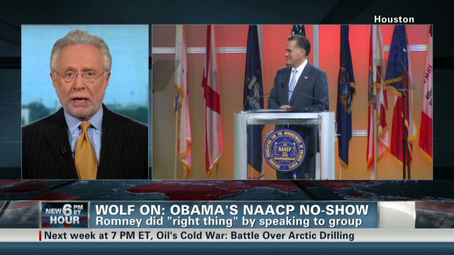 Blitzer on Obama's NAACP no-show