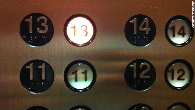Whether you're superstitious or not, you may want to avoid any thirteenth floor on Friday the 13th.