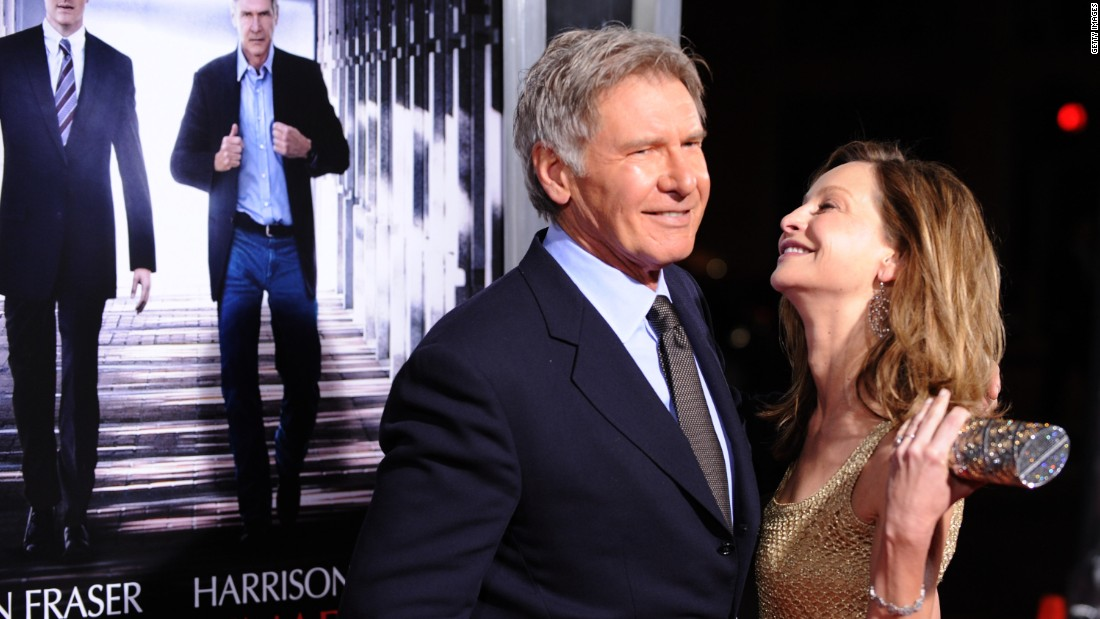 "Ford and Flockhart arrive at the premiere of ""Extraordinary Measures"" in 2010."