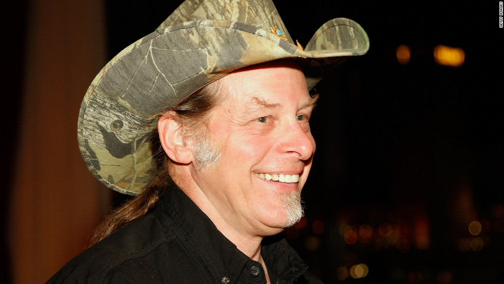 "Rock star Ted Nugent, a gun-rights activist, has endorsed Mitt Romney for president. He drew wide censure, and a visit from the Secret Service, after a speech from a concert stage in 2012, when he said, ""If Barack Obama becomes the president in November again, I will either be dead or in jail by this time next year."""