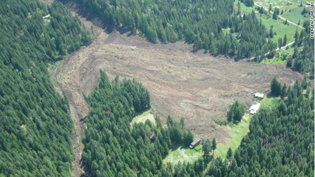 Four people are missing after a landslide Thursday in British Columbia.