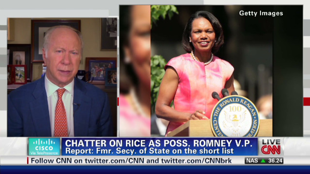 'Rice for VP' rumor gains momentum